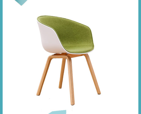 Hay Chair Half Cover With Cushion Wooden Leg